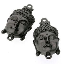 Decoratieve hanger buddha klein gesloten ogen MBNPL 33 x 20mm p/3