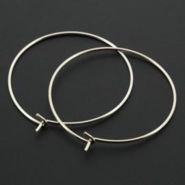 oorring 30mm zilver 925/000 p/2 paar