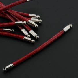 tussenzetsel 58mm soft waxkoord 2mm rood p/12
