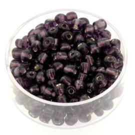 rocailles 6/0 zilver/paars  p/500 gram