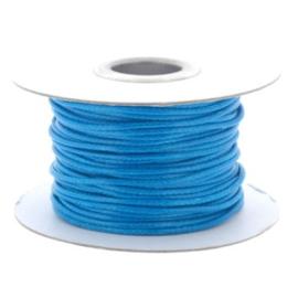 Soft waxkoord / slangenkoord 2mm p/30 meter astro blauw