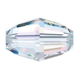 5200 kraal 9x6 mm crystal AB (001 AB) p/10
