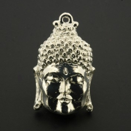 Decoratieve hanger buddha klein gesloten ogen SPL 33 x 20mm  LAST p/3
