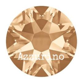 2028 plaksteen 7,2 mm / SS 34 crystal golden shadow F (001 GSHA) p/12