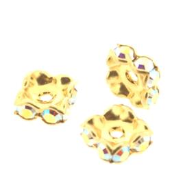 177608 Rondelles vierkant 1028 PP24  Crystal AB (001 AB)  p/4 stuks