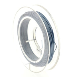staaldraad 0.38mm nyloncoated grijs blauw p/6 mtr p/5 rolletjes