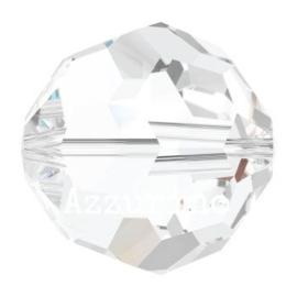5025 kraal rond/ovaal facet 6 mm crystal (001) p/10