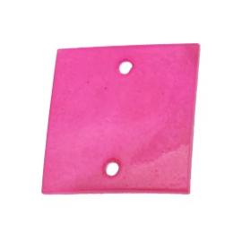 tussenzetsel schelp vierkant 2 gaatjes 17 x 17 mm fuchsia  p/10