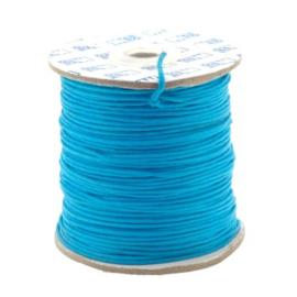 waxkoord 1.5 mm rol p/100 meter zee blauw
