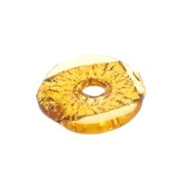 glaskraal disc 3 x 19 mm handgemaakt topaz p/6
