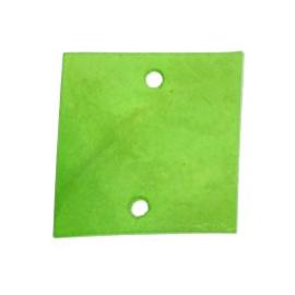 tussenzetsel schelp vierkant 2 gaatjes 17 x 17 mm groen  p/10
