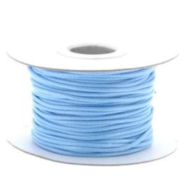 Soft waxkoord / slangenkoord 2mm p/30 meter licht blauw