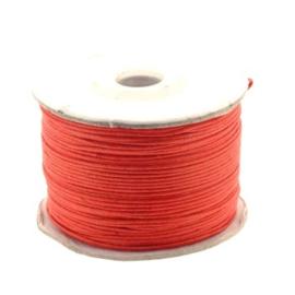 waxkoord 0.5 - 1mm rol p/100 meter rood