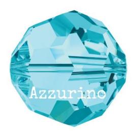 5025 kraal rond/ovaal facet 8 mm aquamarine (202) p/12