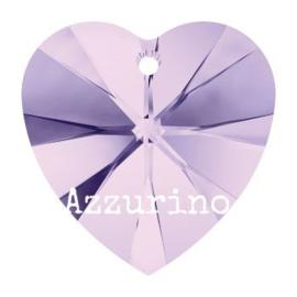 6228 Xilion heart pendant 18 x 17,5 mm violet (371) p/2