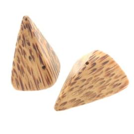 kraal palmhout triangle nugget 25 x 20mm p/20
