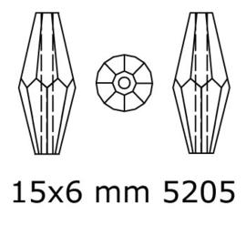 5205 kraal ovaal 15x6 mm saphhire (206) p/10