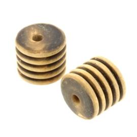 kraal cylinder hoorn gebrand 15x15mm p/10