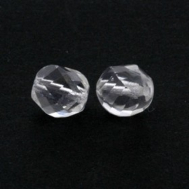 glaskraal facet geslepen 10 mm crystal p/20
