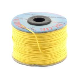 waxkoord 1.0 mm rol p/100 meter geel