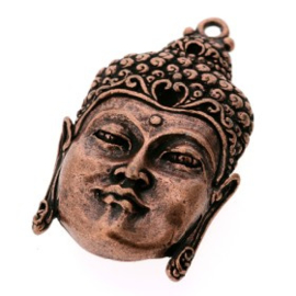 Decoratieve hanger buddha open ogen MAC 50 x 30 mm p/2