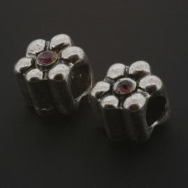 kraal metaal AS grootgaats strass amethyst 9x8mm p/12
