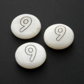 letterkraal schelp nummer 9 / 13 x 4 mm p/12