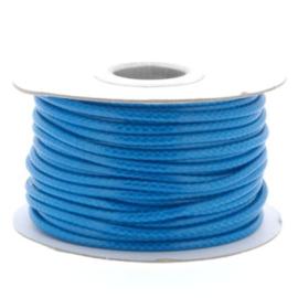 Soft waxkoord / slangenkoord 4mm p/20 meter astro blauw