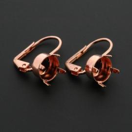DQ  oorhaak voor SS39  Rose Gold 3 Mils p/5 paar