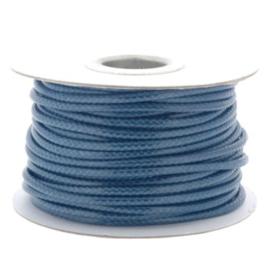 Soft waxkoord / slangenkoord 4mm p/20 meter donker blauw