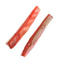 schelp divider 2 gaats 44 x 8 mm rood p/12