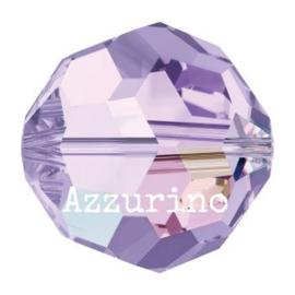 5000 kraal rond facet 6 mm violet AB (371 AB) p/20
