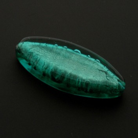 glaskraal lang ovaal 18 x 12 mm emerald p/5