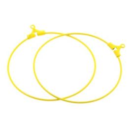 oorbel ornament 40mm p/6 paar oker geel