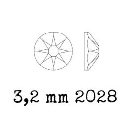 2028 plaksteen 3,2 mm / SS12 peridot F (214) p/50
