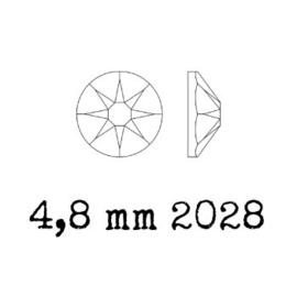 2028 plaksteen 4,8 mm / SS 20 crystal metallic blue F (001 METBL)  p/50