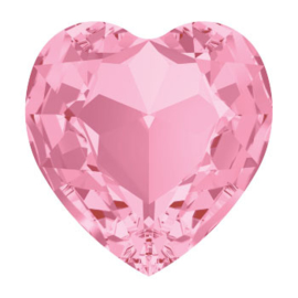 4800 Fancy Stone heart 6.6 x 6 mm light rose F (223) p/6