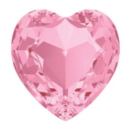 4800 Fancy Stone heart 11 x 10 mm light rose F (223) p/6