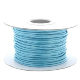 Soft waxkoord / slangenkoord 2mm p/30 meter turquoise
