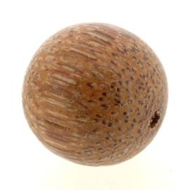 kraal hout gelakt rond 25 mm palmwood p/25