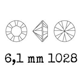 1028 Xilion Chaton puntsteen 6.10 mm / SS 29 burgundy F (515) p/10
