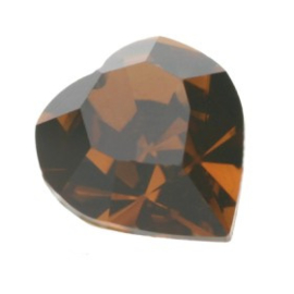 4800 Fancy Stone heart 6.6 x 6 mm smoked topaz F (220) p/6