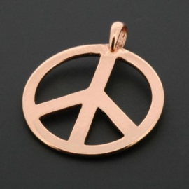 Hanger peace 30 mm rose gold p/6