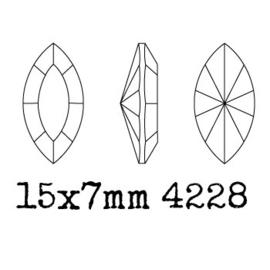 4228 Fancy Stone 15 x 7 mm amethyst F (204)  p/6