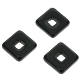 glaskraal vierkant 12 x 12mm zwart  p/25
