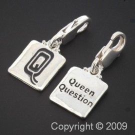 bedel click-on  letter Q queen 27 x 12 mm p/6