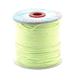 waxkoord 1.5 mm rol p/100 meter licht groen