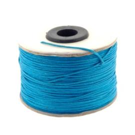 waxkoord 0.5 - 1.0 mm rol p/100 meter blauw