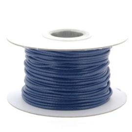 Soft waxkoord / slangenkoord 2mm p/30 meter navy blauw