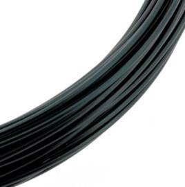 Aluminiumdraad 1mm x 10 meter zwart p/4